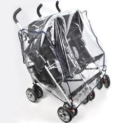 Kids Transparent Universal Double 360 Stroller Rain Cover Si