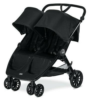 Britax B-Lively Double Stroller - Raven Black - Brand New Fr