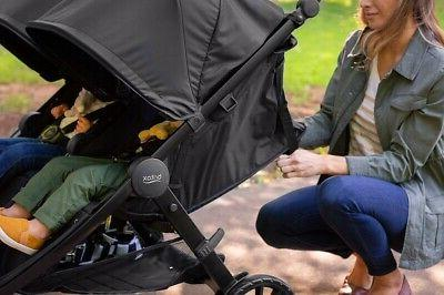Britax B-Lively Double Stroller - Raven Black - Brand Free Shipping!