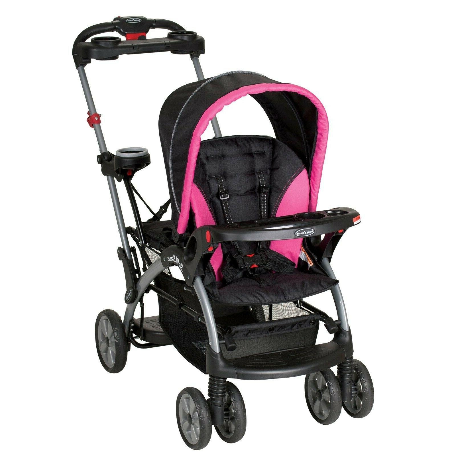 Baby Trend Sit n Stand Ultra Stroller, Bubble Gum