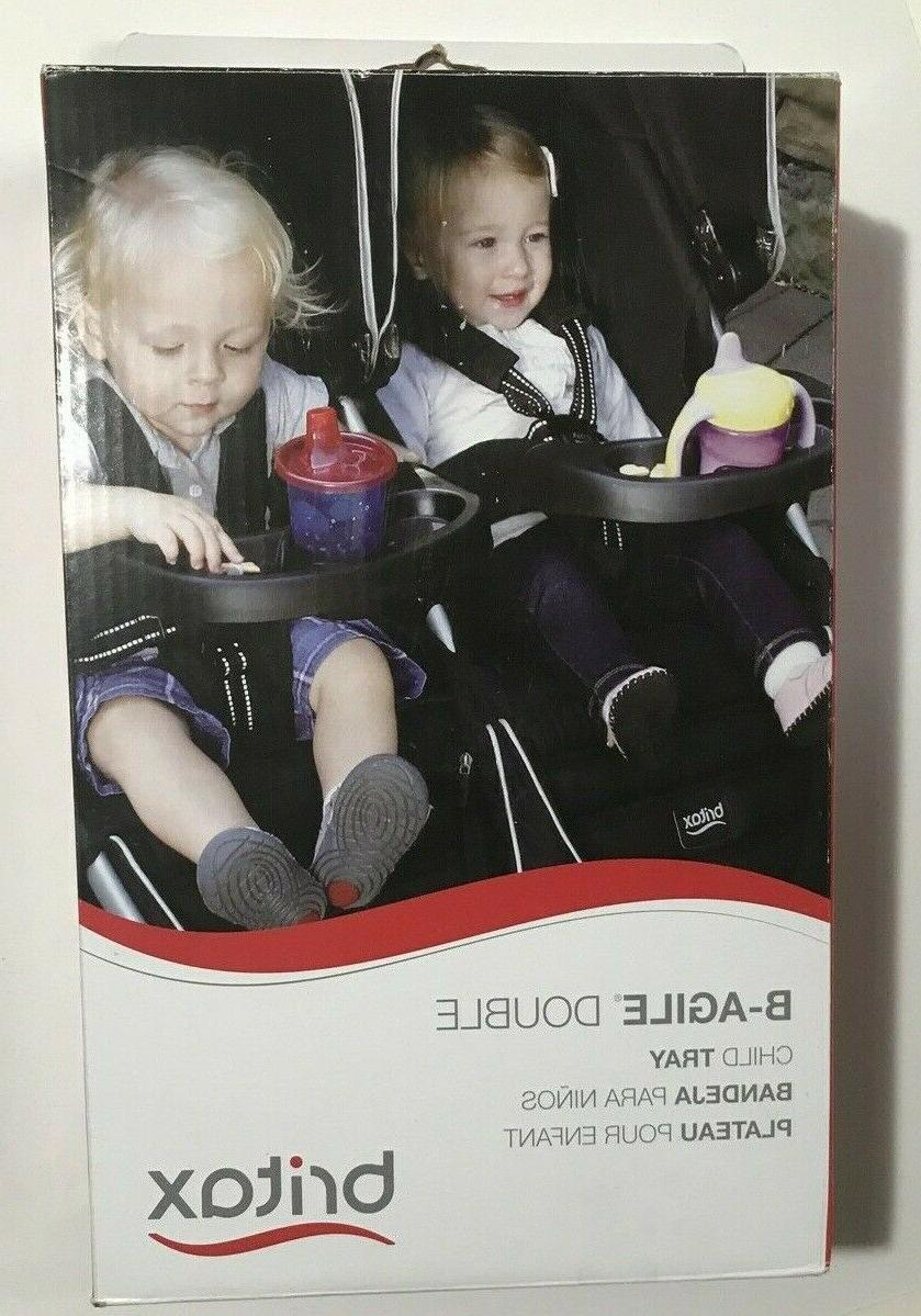 Britax Child Tray for B-Agile Double Strollers, Black