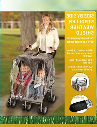 J is for Side by Side Stroller One White