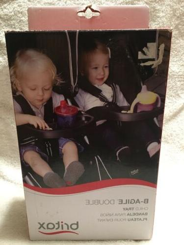 b agile double stroller child snack tray