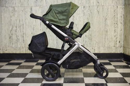 b ready double stroller new has not