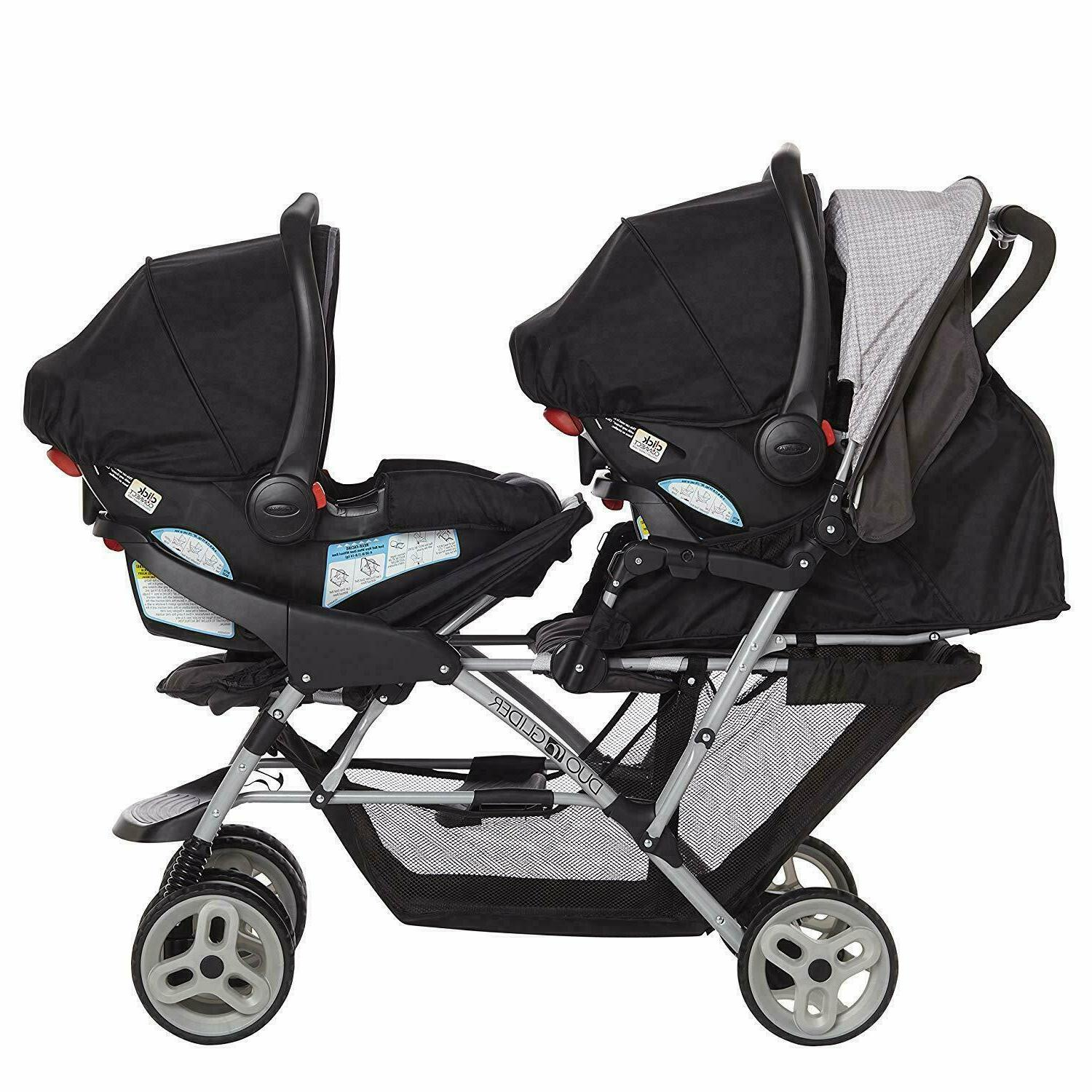 GRACO BABY DOUBLE STROLLER FOLDABLE WITH