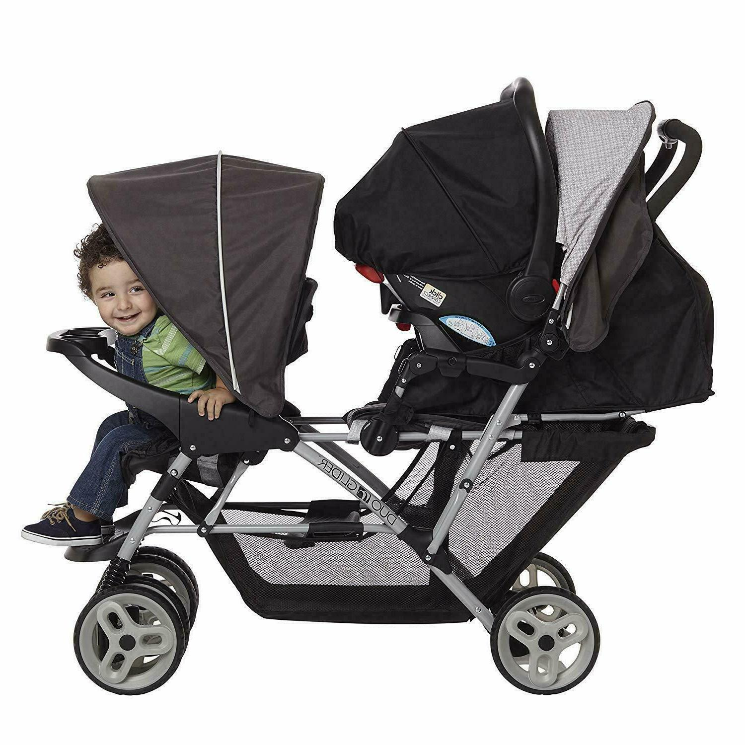 GRACO LIGHTWEIGHT DOUBLE STROLLER WITH SEATING