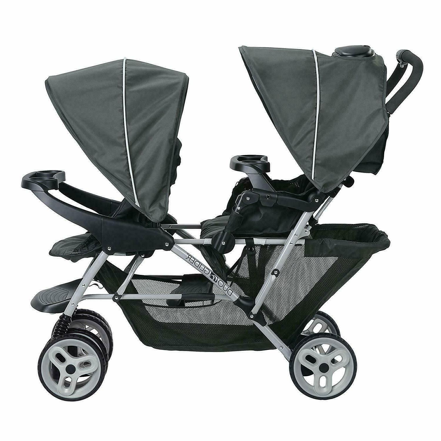 GRACO INFANT DOUBLE STROLLER FOLDABLE BUGGY WITH TANDEM