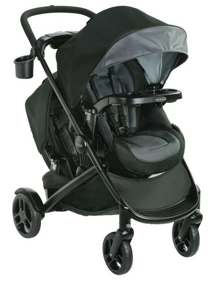 baby modes2grow double stroller w basket hold