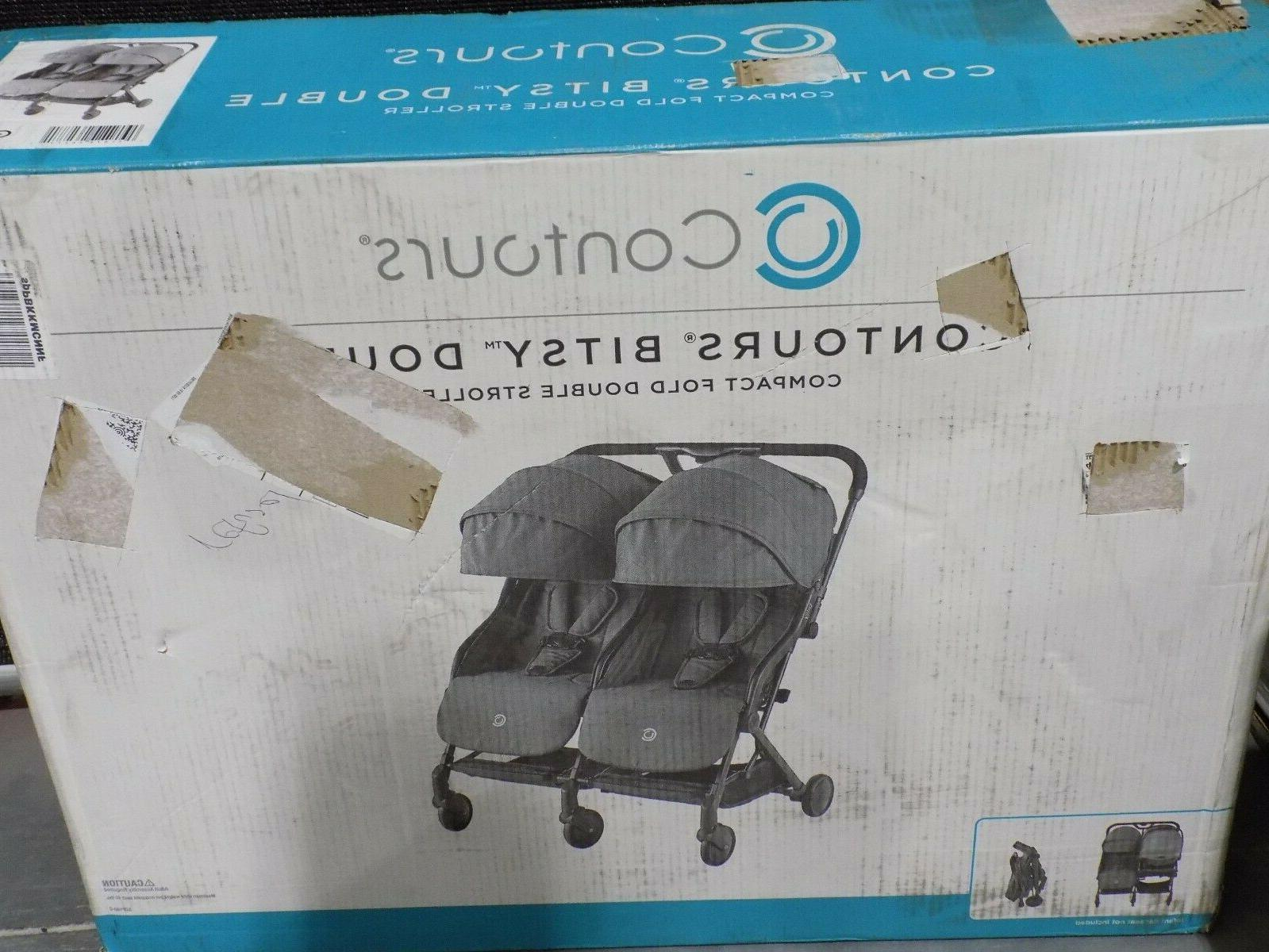 bitsy double compact fold lightweight travel stroller