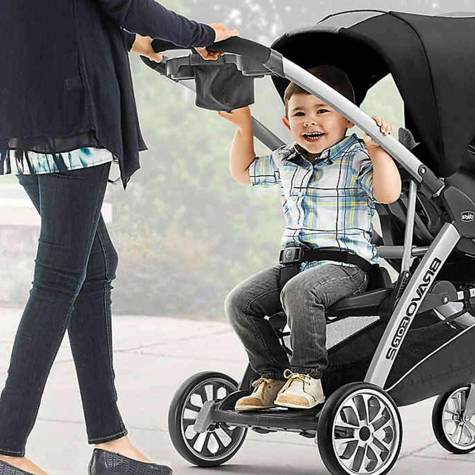 Chicco Bravo For2 Double Stroller Toddler and Stand