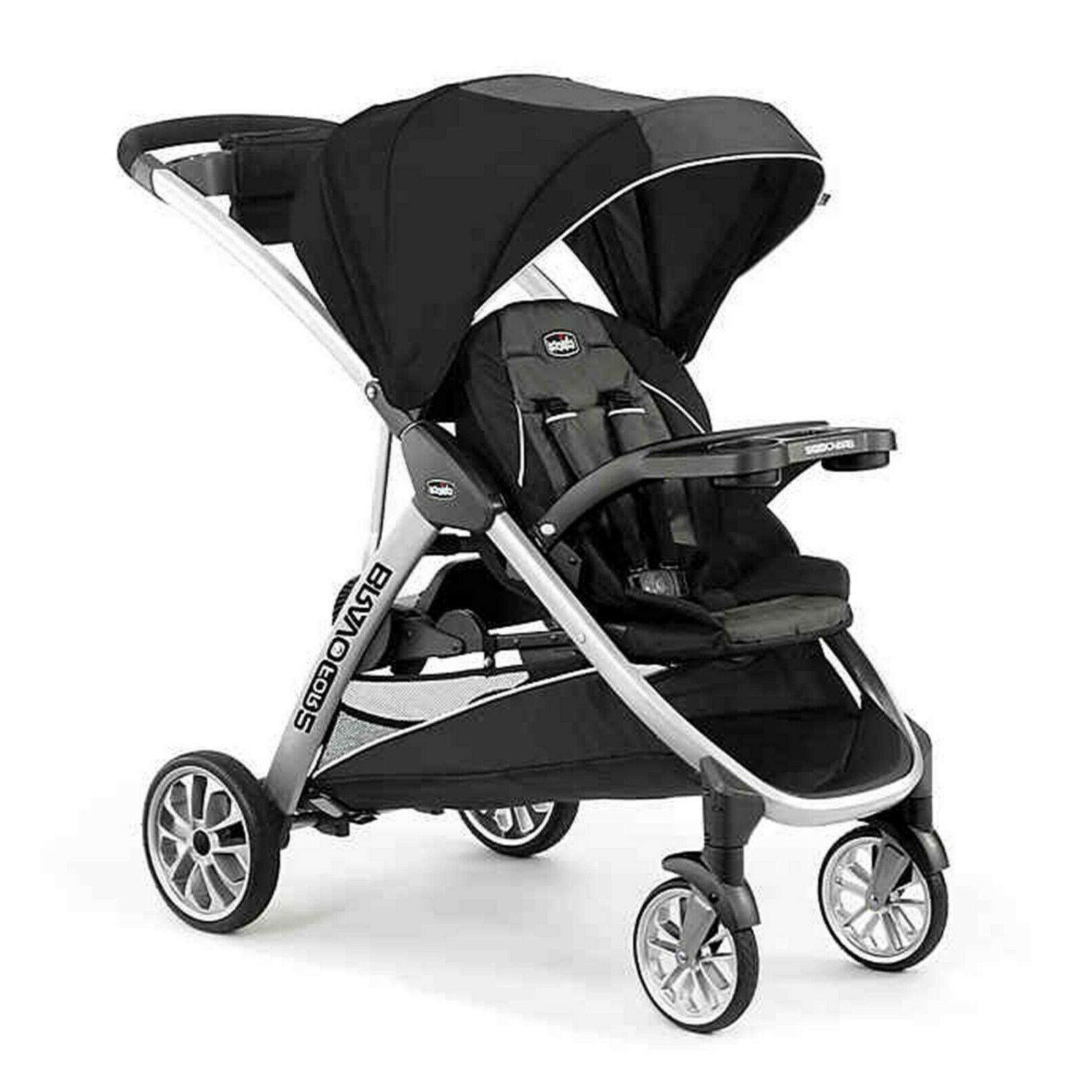 bravo for2 double stroller infant toddler sit