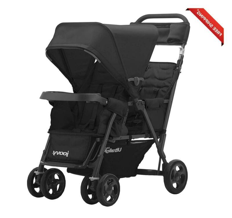 Joovy Caboose Too Ultralight Graphite Stroller, Stand On Tan
