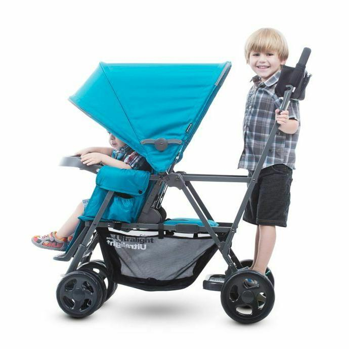 Joovy Graphite Stand-On Stroller in Red Free
