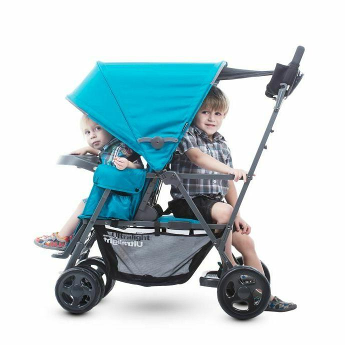 Joovy Caboose Ultralight Graphite Stand-On Tandem Red Free