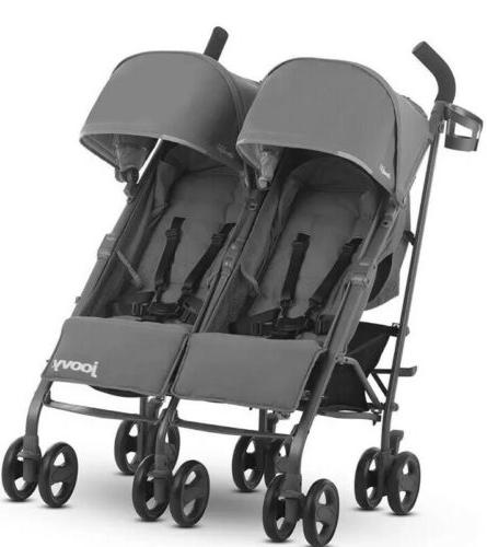 Charcoal Twin Ultralight Umbrella Stroller Box