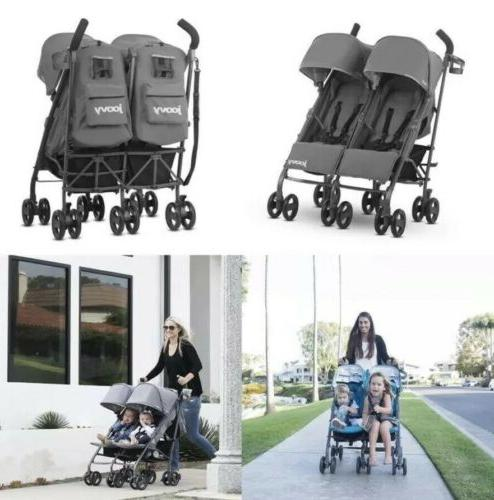 charcoal twin groove ultralight umbrella stroller new