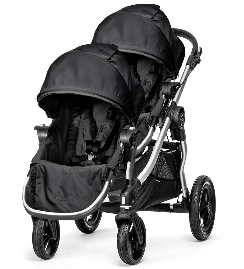 city select double stroller in onyx