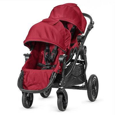 city select double stroller in red
