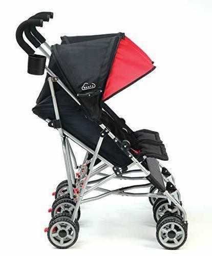 Kolcraft and Compact Umbrella Stroller, Red/Black
