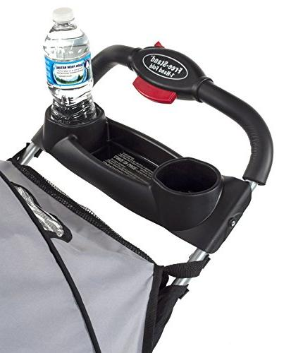Kolcraft Plus Lightweight Stroller Safety System and Seat, Extended One Hand Large Storage