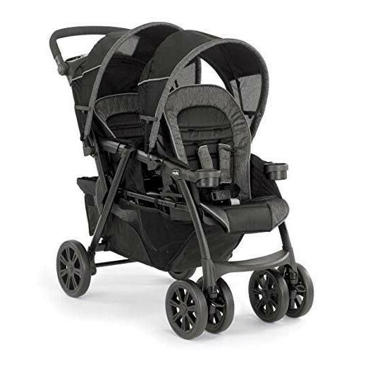 cortina together double stroller minerale new open