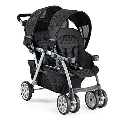 Chicco Cortina Together Travel System Double Stroller KeyFit Infant Car