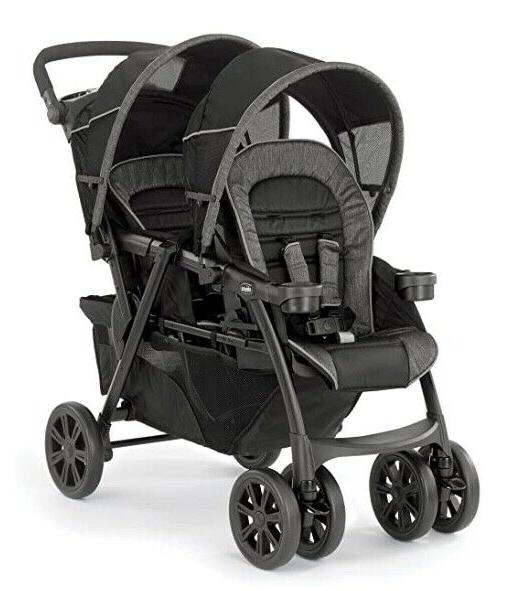 cortina together twin baby double stroller minerale
