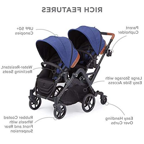 Contours Stroller or Turning Over Curbs, Multiple Options, Blue