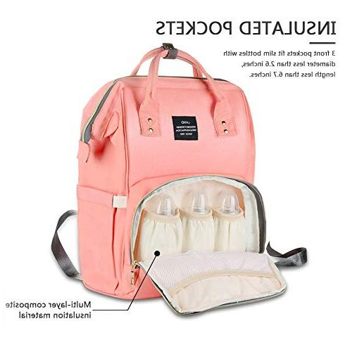 HaloVa Diaper Waterproof Bags for Large Capacity, Stylish and Durable,