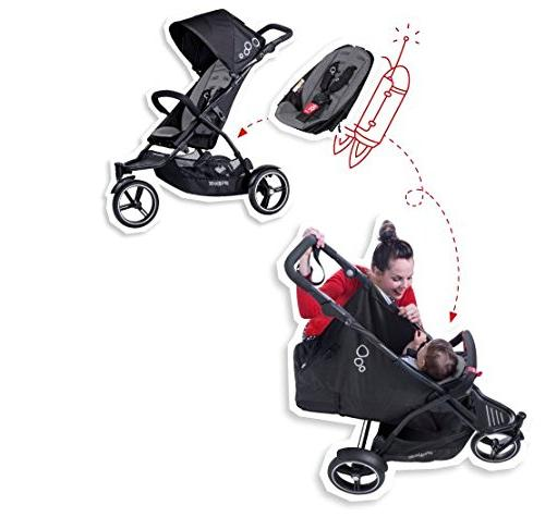 phil&teds Dot Buggy Second Seat, Black