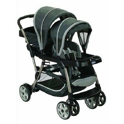 double baby stroller toddler kids ready2grow click