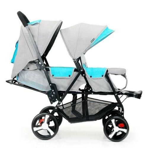 Double Bay Contours Curve Tandem Stroller in