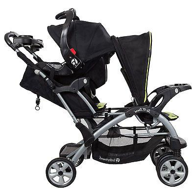 Baby Double N' Stand Toddler Baby Stroller Green