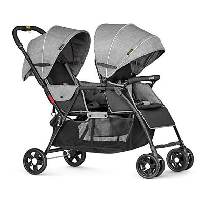 Besrey Double Stroller for Baby and Toddler-Tandem Connect -