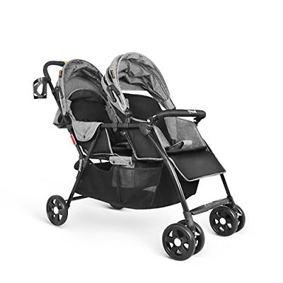 Besrey Stroller for Baby Toddler-Tandem Duo Connect Gray