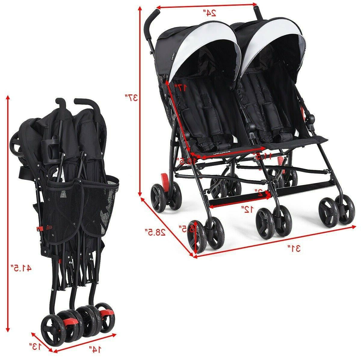 Double Stroller And Toddler Tandem Twin Baby Stroller