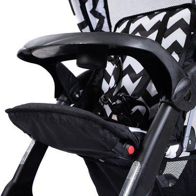 Costzon Double Stroller Infant Baby Pushchair Convenience Seat