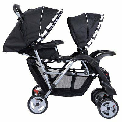 Costzon Double Baby Pushchair Convenience Seat