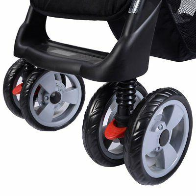 Costzon Double Stroller Baby Pushchair Seat