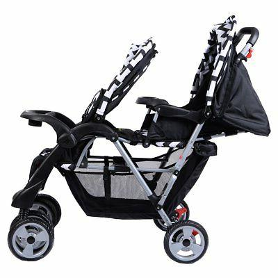 Costzon Double Stroller Baby Pushchair Convenience Twin Seat