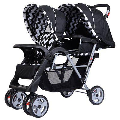 double stroller infant baby pushchair convenience twin