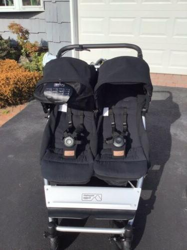 duet black travel system double seat stroller