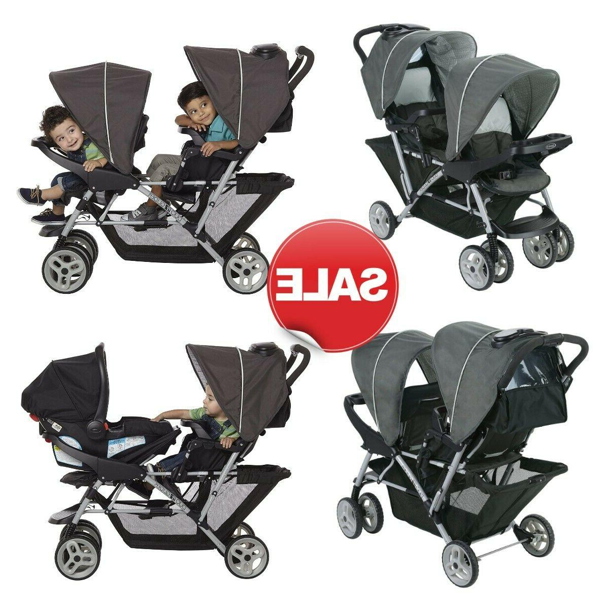 duoglider click connect double stroller lightweight glacier