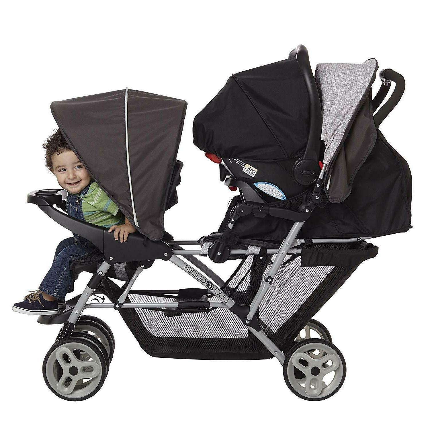 Graco Infant Double Stroller Foldable Buggy with Seating