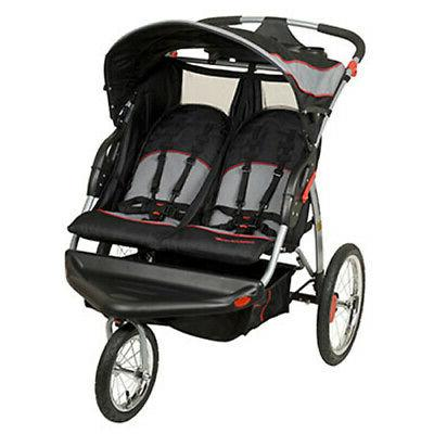expedition swivel travel jogging double baby stroller