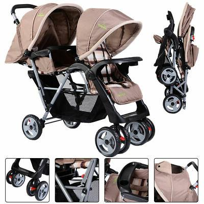 Foldable Twin Baby Double Stroller Infant