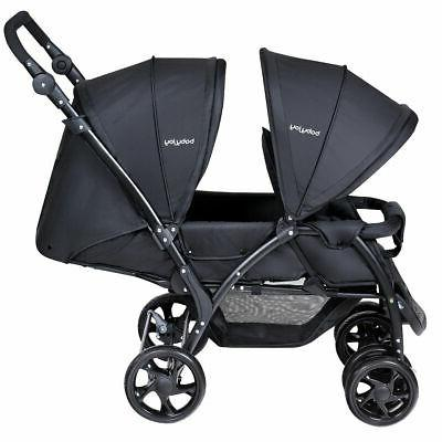 Foldable Lightweight Twin Baby Double Stroller Infant Pushch