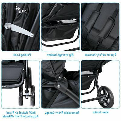 Foldable Double Stroller Lightweight Infant