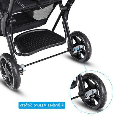 Folding Stand Stroller Pushchair