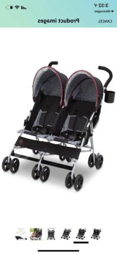 J Is for Jeep BRAND Scout Double Stroller - Lunar Burgundy